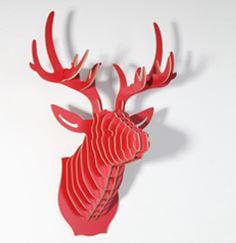 Hirschkopf rot